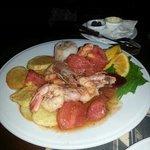 Shrimps with ouzotaste