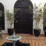 Courtyard and door to our room