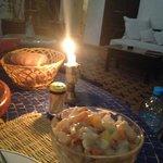 Dessert during Riad Dinner