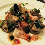 Fillet of Wild Turbot, Lovage Gnocchi, Avruga Caviar, Globe Artichokes and Sauce Vierge
