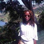 The greenery overlooking the Umtentweni river