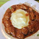 Beef goulash in a very tasty savoury sauce