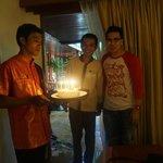 staffs of Sawasdee with the surprise birthday cake