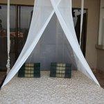 テラスのハンモックベッド