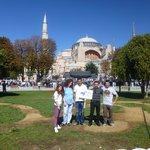Anas Crecca staff in front of Hagia Sophia (Istanbul)