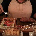 Rump steak on a rock