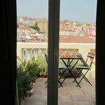 Blick vom Zimmer nach draußen