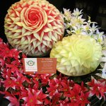 Fruit carving made by our staff at U-Thai Restaurant and Bar