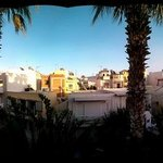 View from our balcony in the late afternoon.