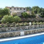 Maison d'hôtes vue de la piscine