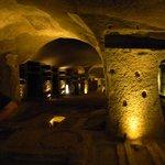 Veduta parziale delle Catacombe
