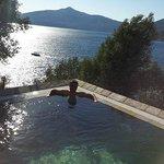 villa's private pool and sea view