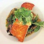 Crisp-sauteed salmon