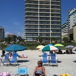 Our building from the beach