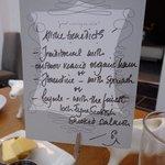 Breakfast menu - day 2