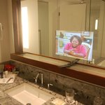 Mirror with integrated TV-Screen