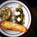 Oeuf en gelee and pickles