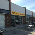 Hot Italian Sandwiches. The name says it all. Note the outdoor seating.