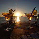 sunset view from Bora Bora Yacht Club