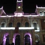 La plaza de noche