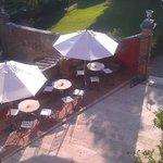 Outdoor breakfast area from Terrazza.