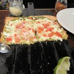 Now that is a great looking and delicious Shrimp Flatbread