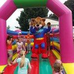 freddy on the bouncy castle