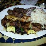 Kabob with rice