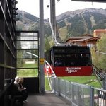 Jackson Hole Tram holds up to 100 skiers with equipment -and a lot of sight seeing...