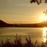 Sunset over Benewah Lake from Benewah Campground