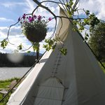 another teepee...they are all in stunning settings