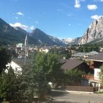 The view of Cortina and the mountains from our room