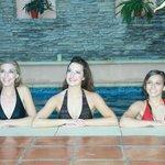 Girls enjoying the pool!