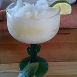 Frozen Margarita - $6.50. Forget a straw, use a spoon