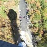 shadow of tower looking down