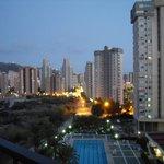 Balcony view at dusk