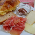 Sweet Pastries, Cheese and Prosciutto