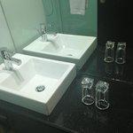 clean sparkling bathrooms