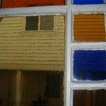 cool stainglass window.
