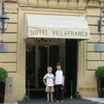 Boys out front of hotel