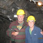 in the mine.