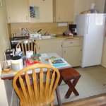 small kitchenette with table