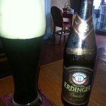 The best beer in Kampot. German Erdinger Dunkel.  Unbeatable price 50 cl bottle for USD 3.50