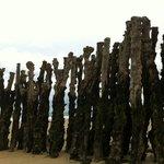 Brises-lames sur la plage