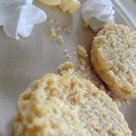 Delicious homemade scones with cream and homemade jam