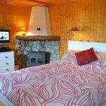 Bedroom Garden level Double with TV/log burner