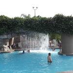 Fountain at Cascades pool