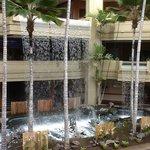 waterfall in hotel