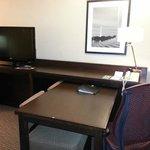 TV and desk in livingroom