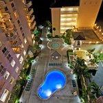 Night Shot Pool Royal Vista Pompano Beach Florida